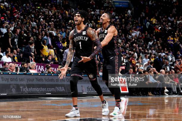 Angelo Russell of the Brooklyn Nets reacts against the Los Angeles Lakers on December 18 2018 at Barclays Center in Brooklyn New York NOTE TO USER...