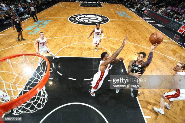 Angelo Russell of the Brooklyn Nets shoots the ball against the Miami Heat on April 10 2019 at Barclays Center in Brooklyn New York NOTE TO USER User...