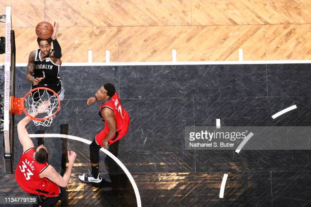 Angelo Russell of the Brooklyn Nets shoots the ball against the Toronto Raptors on April 3 2019 at Barclays Center in New York City New York NOTE TO...