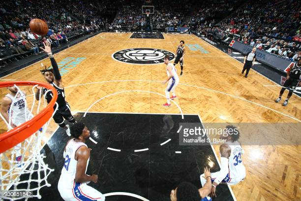Angelo Russell of the Brooklyn Nets shoots the ball during the game against the Philadelphia 76ers on March 11 2018 at Barclays Center in Brooklyn...
