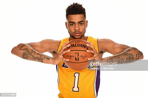 Angelo Russell of the Los Angeles Lakers poses for a portrait during the 20162017 Los Angeles Lakers Media Day at Toyota Sports Center on September...