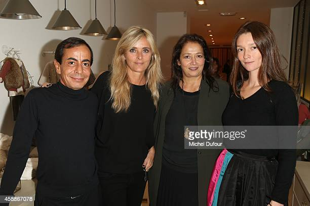 Angelo Sensini Marie Poniatowski Christine Innamorato and Audray Marnay attend the New Jewellery Collection Cocktail Party at Avenue Montaigne on...