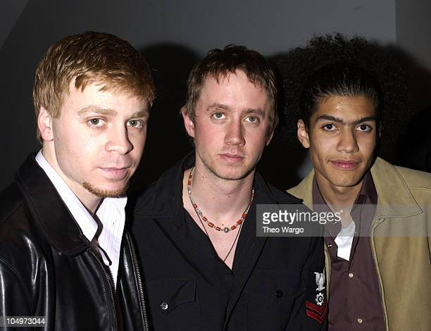 Angelo Spizzirri Chad Lindberg and Rick Gonzalez during 'The Rookie' New York City Premiere at Astor Plaza Theatre in New York City New York United...