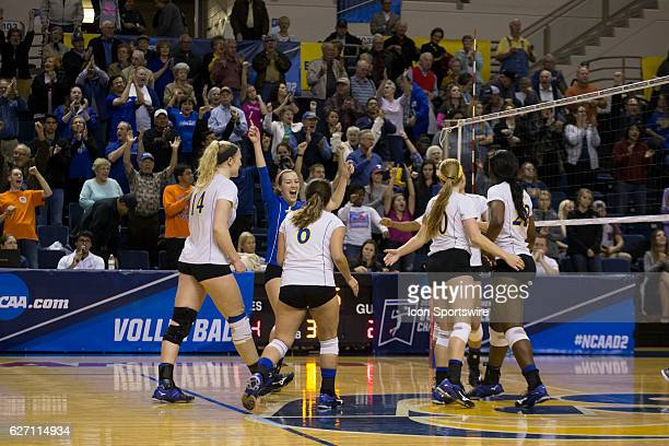 Angelo State celebrates after a win after the game between Texas A&M Kingsville Javelina and Angelo State Belles on December 01 in the first round of...