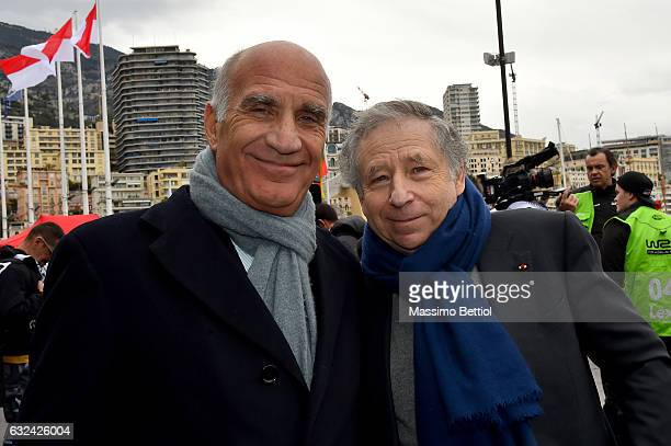 Angelo Sticchi Damiani president of Autobile Club d'Italy and Jean Todt president of FIA during Day Four of the WRC MonteCarlo on January 22 2017 in...