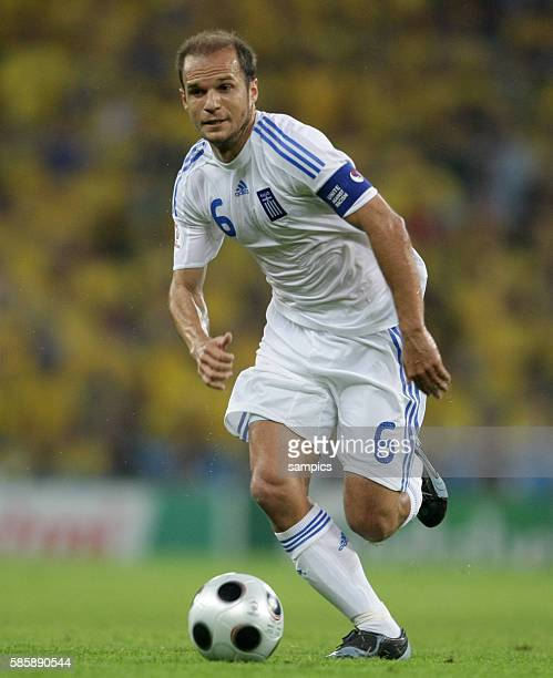 Angelos Basinas of Greece during the UEFA EURO 2008 Group D preliminary round match between Greece and Sweden at the WalsSiezenheim stadium in...
