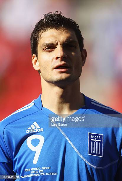 Angelos Charisteas of Greece during the 2010 FIFA World Cup South Africa Group B match between South Korea and Greece at Nelson Mandela Bay Stadium...