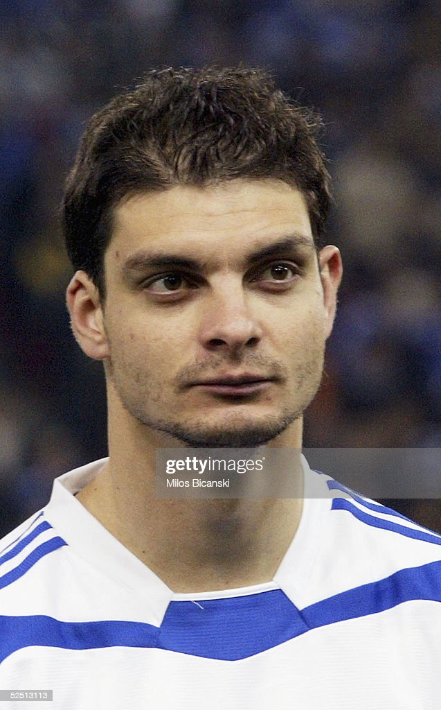 Angelos Charisteas of Greece poses for a portrait before their 2006 World Cup qualification football match against Albania on March 30, 2005 at Giorgos Karaiskaki Stadium in Athens, Greece. Greece defeated Albania 2-0.