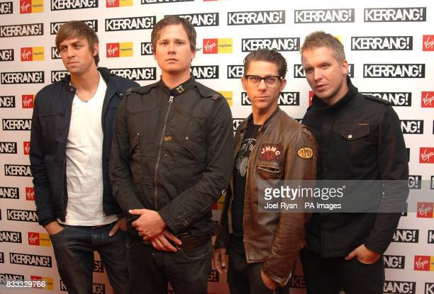 Angels And Airwaves arrive for the 2007 Kerrang awards at The Brewery london