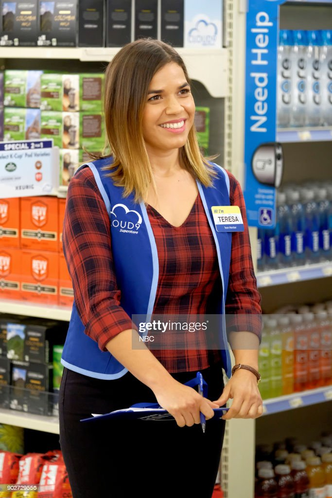 SUPERSTORE -- 'Angels and Mermaids' Episode 311 -- Pictured: America Ferrera as Amy --