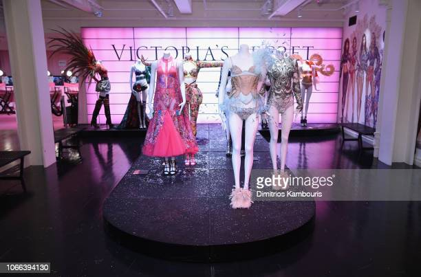 Angels celebrate the Victoria's Secret Fashion Show airing December 2 on the ABC Television Network at the new VIP Runway Experience located in the...