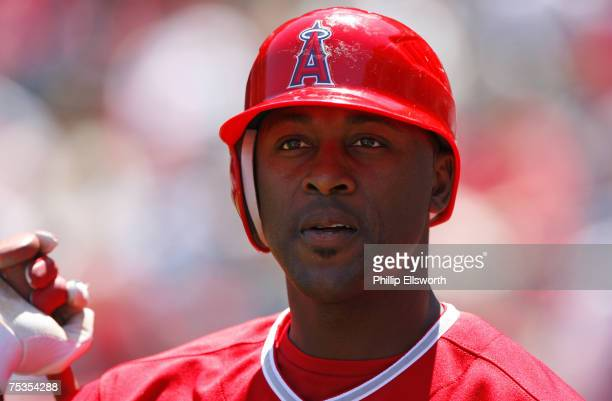 Angels center fielder Gary Matthews Jr. At Angels Stadium Tuesday April 24, 2007. Angels won the game in 10 innings 9-8.