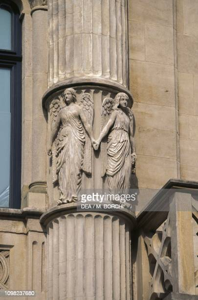 Angels, detail from a column relief, Grand Ducal Palace, 1545-1604, Luxembourg City, Luxembourg, 16th-17th century.