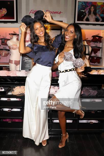 Angels Lais Ribiero and Jasmine Tookes Keep Up The Sexy in Miami on February 21 2018 in Miami Florida