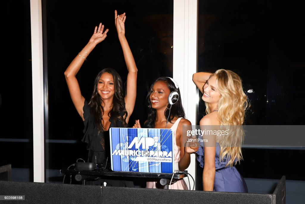 VS Angels Lais Ribiero, Jasmine Tookes, and Romee Strijd Keep Up The Sexy in Miami on February 21, 2018 in Miami, Florida.