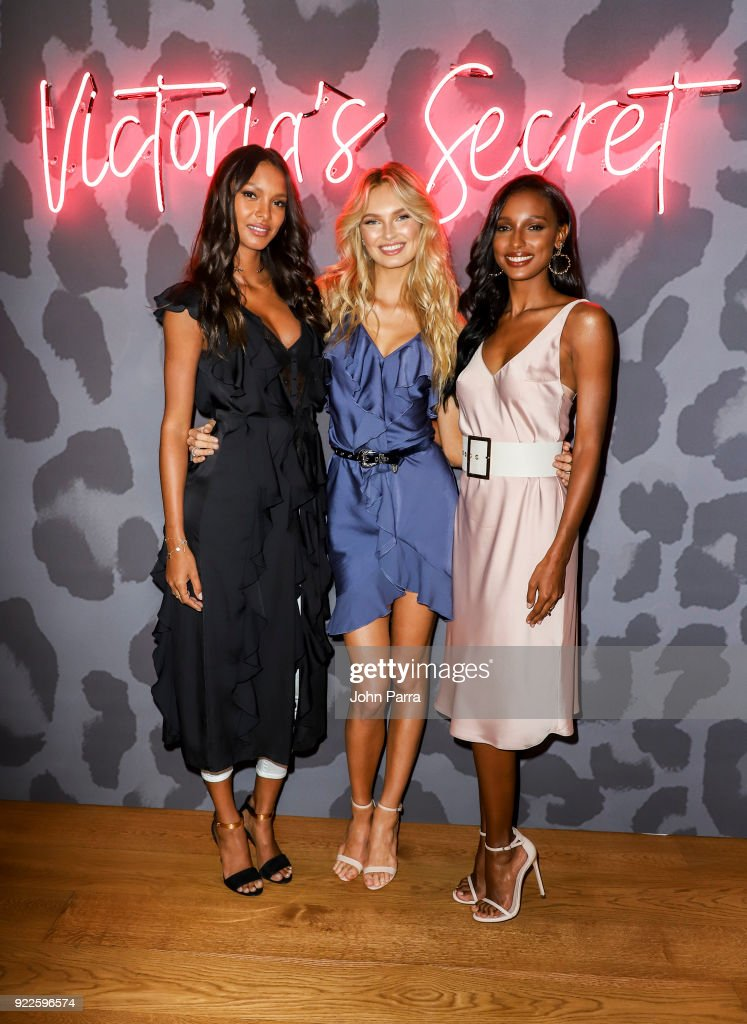 VS Angels Lais Ribiero, Romee Strijd, and Jasmine Tookes Keep Up The Sexy in Miami on February 21, 2018 in Miami, Florida.