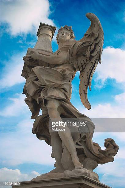 Angels on the Sant'Angelo bridge, Rome. The angels which were designed by Gianlorenzo Bernini each carry an implement from the Passion, Crucifixion,...