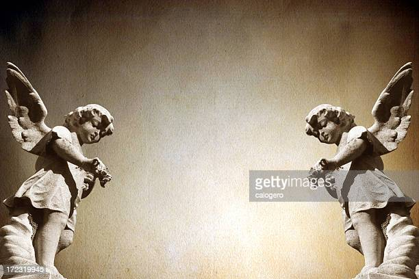 angels. - cherub stock photos and pictures