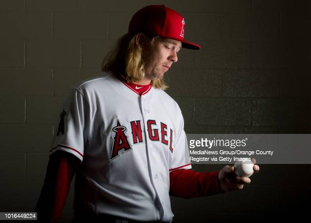 Angels' relief pitcher John Lamb poses during the annual Spring Training Photo Day at Tempe Diablo Stadium in Tempe on Thursday Feb 22 2018