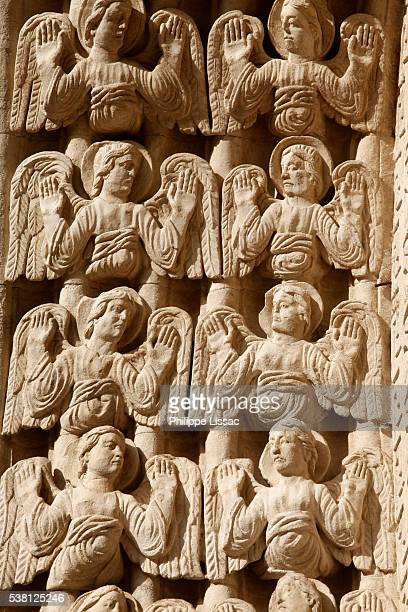 Angels sculpted on Saint-Trophime cathedral, Arles, Provence