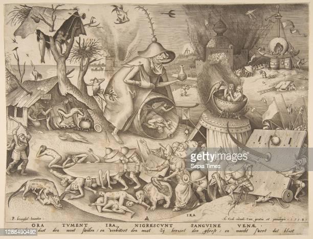 Anger , from the series The Seven Deadly Sins Engraving, sheet: 8 7/8 x 11 11/16 in. , Prints, Pieter van der Heyden , After Pieter Bruegel the Elder...