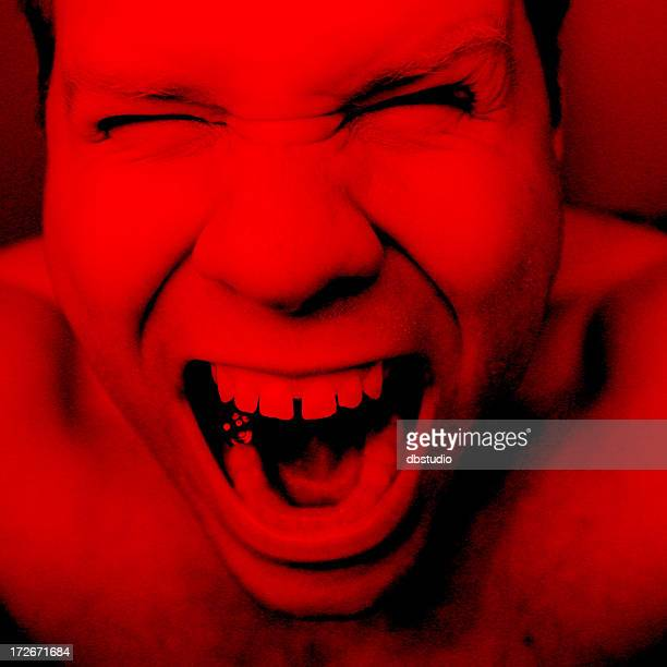 anger &  frustration - gold tooth stock photos and pictures