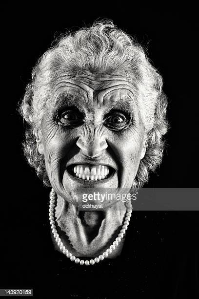 anger - bad teeth stock photos and pictures