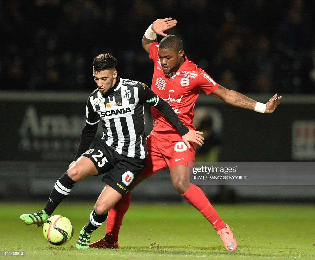 FBL-FRA-LIGUE1-ANGERS-MONTPELLIER : News Photo