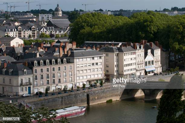 Angers the city on the Maine river bank maine and Loire Valley France