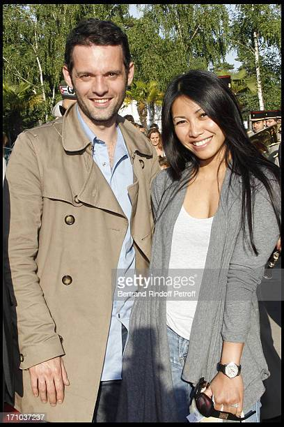 Anggun and companion Cyril Montana at Jardin D'Acclimatation 150th Anniversary With Les Echos Des Fanfares