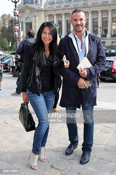 Anggun and her husband Cyril Montana Attend the Guy Laroche show as part of the Paris Fashion Week Womenswear Spring/Summer 2015 on September 24 2014...