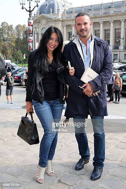 Anggun and her husband Cyril Montana attend the Guy Laroche Show at Paris Fashion Week Womenswear SS 2015 on September 24 2014 in Paris France