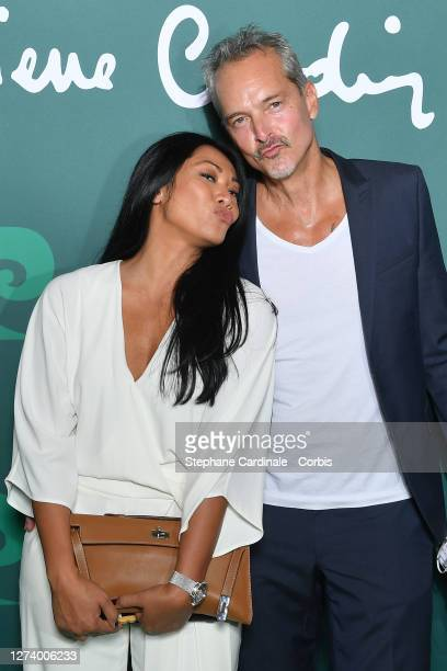 "Anggun and husband Christian Kretschmar attend the ""House Of Cardin"" Special Screening At Theatre Du Chatelet on September 21, 2020 in Paris, France."