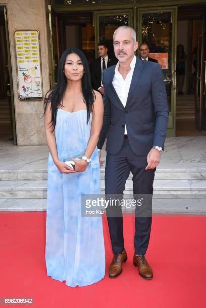 Anggun and Olivier Maury attend Amnesty International 'Musique Contre L'Oubli' Gala Ceremony at Theatre des Champs Elysees on June14 2017 in Paris...