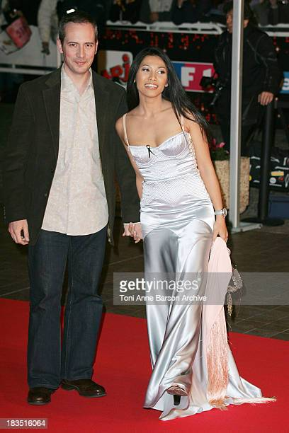 Anggun and Olivier Maury during 2005 NRJ Music Awards Arrivals at Palais des festivals in Cannes France