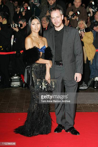 Anggun and Olivier Maury during 2006 NRJ Music Awards Arrivals at Palais des Festivals in Cannes France