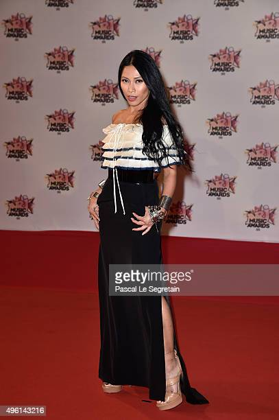 Anggun attends the 17th NRJ Music Awards at Palais des Festivals on November 7 2015 in Cannes France