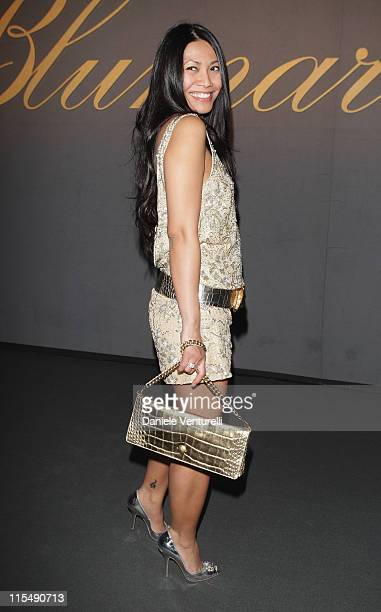 Anggun attends the Blumarine show as part of Milan Fashion Week Autumn/Winter 2008/09 on February 19 2008 in Milan Italy