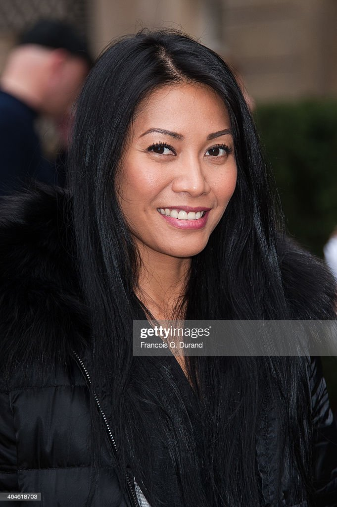 Anggun attends the Didit show as part of Paris Fashion Week Haute Couture Spring/Summer 2014> on January 23, 2014 in Paris, France.