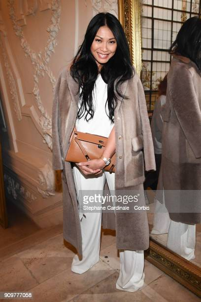 Anggun attends the Jean Paul Gaultier Haute Couture Spring Summer 2018 show as part of Paris Fashion Week January 24 2018 in Paris France