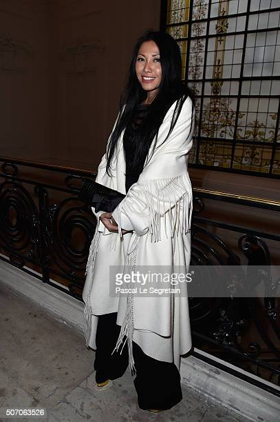 Anggun attends the Jean Paul Gaultier Spring Summer 2016 show as part of Paris Fashion Week on January 27 2016 in Paris France