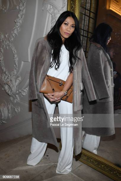 Anggun attends the JeanPaul Gaultier Haute Couture Spring Summer 2018 show as part of Paris Fashion Week on January 24 2018 in Paris France