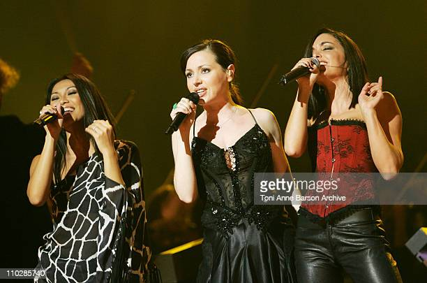 Anggun Tina Arena and Jenifer Bartoli during 'The 2006 Night of The Proms' at Nikaia in Nice France