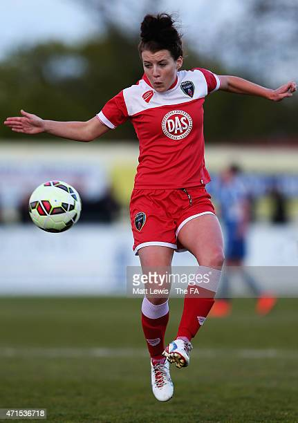 Angharad James of Bristol Academy Women in action during the FA WSL match between Birmingham City Ladies and Bristol Academy Women at Solihull Moors...