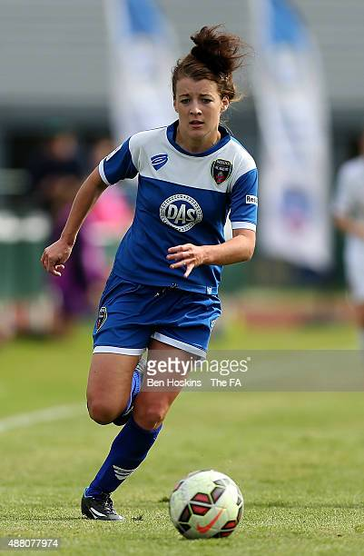 Angharad James of Bristol in action during FA WSL Continental Tyres Cup Quarter Final match between Bristol Academy Women and Liverpool Ladies at...