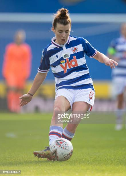 Angharad James of Reading during the Barclays FA Women's Super League match between Reading Women and Arsenal Women at Madejski Stadium on January...