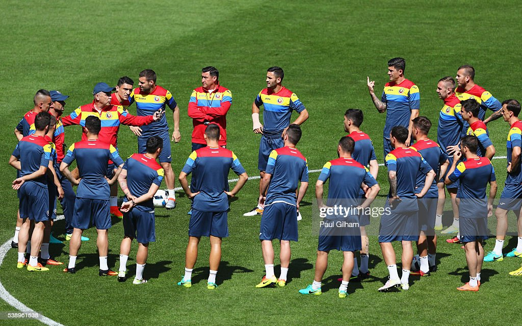 Romania Training Session and Press Conference - UEFA Euro 2016