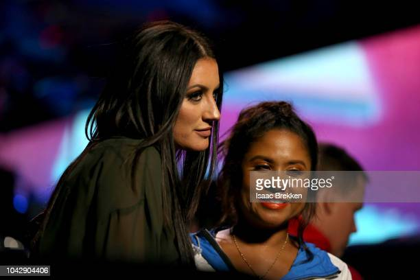 Angi Taylor and Angela Yee at the iHeartRadio Music Festival at TMobile Arena on September 22 2018 in Las Vegas Nevada