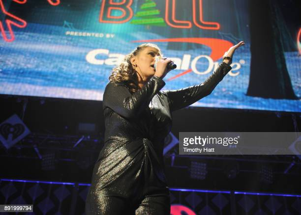 Angi Taylor of 1035 KISS FM onstage during 1035 KISS FM's Jingle Ball 2017 at Allstate Arena on December 13 2017 in Rosemont Illinois