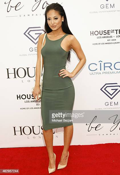 Angie Ang attends House Of CB House Of Tre Li Pre Grammy Party on February 7 2015 in Los Angeles California